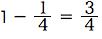 spi非言語 確率例題 1-1/4=3/4