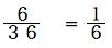 spi非言語 確率基礎 基礎例題 6/36 =1/6
